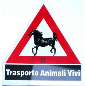 CARTELLO TRASPORTO ANIMALI VIVI ADESIVO